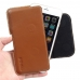 iPhone 7 Plus Leather Holster Pouch Case (Brown) genuine leather case by PDair