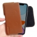 iPhone 11 (in Slim Cover) Leather Holster Pouch Case (Brown) handmade leather case by PDair