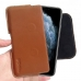 iPhone 11 Pro Max  Leather Holster Pouch Case (Outstanding stitching, elaborate handcrafted and premium exclusive selected top quality full grain genuine leather coming together creates this extraordinary Apple iPhone 11 Pro Max Leather Holster Pouch Cas