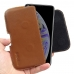iPhone XS Max Leather Holster Pouch Case (Brown) handmade leather case by PDair