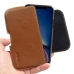 iPhone XR (in Slim Cover) Leather Holster Pouch Case (Brown) handmade leather case by PDair