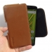 Moto X Play Leather Holster Pouch Case (Brown) genuine leather case by PDair