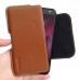 Motorola Moto Z2 Force Leather Holster Pouch Case (Brown) handmade leather case by PDair