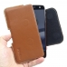 Moto Z Force Leather Holster Pouch Case (Brown) handmade leather case by PDair
