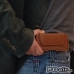 Moto Z Play Leather Holster Pouch Case (Brown) genuine leather case by PDair