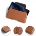 Nokia 9 PureView Leather Holster Pouch Case (Brown) protective carrying case by PDair