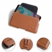OnePlus 5T Leather Holster Pouch Case (Brown) protective carrying case by PDair