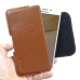 Samsung Galaxy On7 2016 Leather Holster Pouch Case (Brown) genuine leather case by PDair