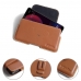 HTC U11 Eyes Leather Holster Pouch Case (Brown) protective carrying case by PDair