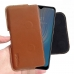 HTC Wildfire X Leather Holster Pouch Case (Brown) handmade leather case by PDair