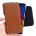 LG V40 ThinQ Leather Holster Pouch Case (Brown) handmade leather case by PDair