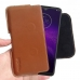Motorola One Macro Leather Holster Pouch Case (Brown) handmade leather case by PDair