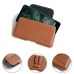 Nokia 7.2 Leather Holster Pouch Case (Brown) protective carrying case by PDair