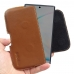 Samsung Galaxy Note 10 (in Slim Cover) Leather Holster Pouch Case (Brown) handmade leather case by PDair