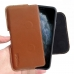 iPhone 11 Pro Max (in Slim Cover) Leather Holster Pouch Case (Brown) handmade leather case by PDair