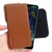 LG V50 ThinQ 5G Leather Holster Pouch Case (Brown) handmade leather case by PDair