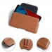 LG Q Stylus | Q Stylus+ Leather Holster Pouch Case (Brown) protective carrying case by PDair