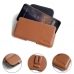 Nokia 3.2 Leather Holster Pouch Case (Brown) protective carrying case by PDair