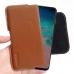 Samsung Galaxy S10 Plus (in Slim Cover) Leather Holster Pouch Case (Brown) handmade leather case by PDair