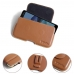 Nokia 7 Leather Holster Pouch Case (Brown) protective carrying case by PDair