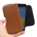 HTC 10 Leather Holster Pouch Case (Brown) genuine leather case by PDair