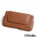 HTC 10 Leather Holster Pouch Case (Brown) best cellphone case by PDair