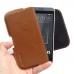 HTC Desire 530 630 Leather Holster Pouch Case (Brown) genuine leather case by PDair