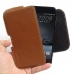 HTC One A9 Leather Holster Pouch Case (Brown) genuine leather case by PDair