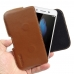 Huawei Enjoy 5s Leather Holster Pouch Case (Brown) genuine leather case by PDair