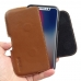 Apple iPhone X (in Slim Cover) Leather Holster Pouch Case (Brown) handmade leather case by PDair