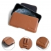 iPhone 11 Pro (in Slim Cover) Leather Holster Pouch Case (Brown) protective carrying case by PDair