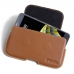 LG X cam Leather Holster Pouch Case (Brown)  handmade leather case by PDair