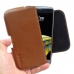 LG X cam Leather Holster Pouch Case (Brown)  genuine leather case by PDair