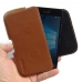 Microsoft Lumia 950 Leather Holster Pouch Case (Brown) genuine leather case by PDair