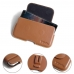 Nokia 8 Sirocco Leather Holster Pouch Case (Brown) protective carrying case by PDair