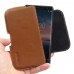Nokia 8 Sirocco Leather Holster Pouch Case (Brown) handmade leather case by PDair