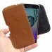 Samsung Galaxy A5 2016 Leather Holster Pouch Case (Brown) genuine leather case by PDair