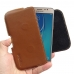 Samsung Galaxy J5 2016 Leather Holster Pouch Case (Brown) genuine leather case by PDair