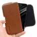 Samsung Galaxy C5 Leather Holster Pouch Case (Brown) genuine leather case by PDair