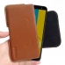 Samsung Galaxy J6 Leather Holster Pouch Case (Brown) handmade leather case by PDair