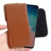 Samsung Galaxy S10e (in Slim Cover) Leather Holster Pouch Case (Brown) handmade leather case by PDair