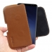 Samsung Galaxy S9 Leather Holster Pouch Case (Brown) handmade leather case by PDair