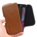 Sony Xperia X Leather Holster Pouch Case (Brown) genuine leather case by PDair