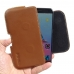 ZTE Blade V7 / Small Fresh 4 Leather Holster Pouch Case (Brown) genuine leather case by PDair