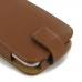Moto G 3rd Gen 2015 Leather Flip Wallet Case (Brown) protective stylish skin case by PDair