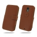 Moto X Style / Pure Edition Leather Flip Cover (Brown) protective carrying case by PDair