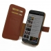 Moto X Style / Pure Edition Leather Flip Cover (Brown) handmade leather case by PDair