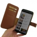 Moto X Style / Pure Edition Leather Flip Cover (Brown) genuine leather case by PDair