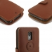 Moto X Style / Pure Edition Leather Flip Cover (Brown) top quality leather case by PDair