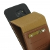 Samsung Galaxy S7 edge Leather Flip Wallet Case (Brown) top quality leather case by PDair